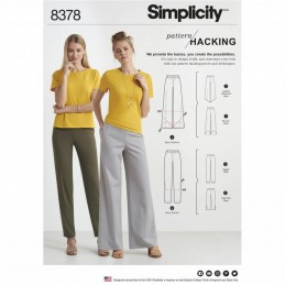 Misses' Knit Trousers Design Hack Collection Simplicity Sewing Pattern 8378