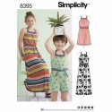 Child's Girls Halter Dress Romper Simplicity Sewing Pattern 8395
