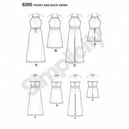 Child's Girls Halter Dress Romper Simplicity Sewing Pattern 8395