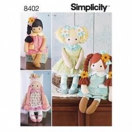 Stuffed Dolls Clothes Elaine Heigl Dress Simplicity Sewing Pattern 8402