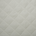 Cream Quilted Polycotton Fabric
