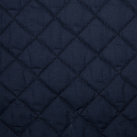 Navy Quilted Polycotton Fabric