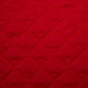Red Quilted Polycotton Fabric