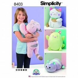 Stuffed Kitties Cats Carla Reiss Dress Simplicity Sewing Pattern 8403