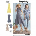 Misses' Shirt Dress and Top Handkerchief Hem Simplicity Sewing Pattern 8384