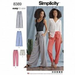 Misses' Tie Waist Casual Trousers and Shorts Simplicity Sewing Pattern 8389