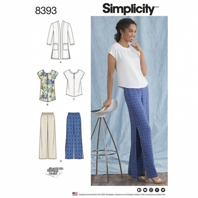 Misses' and Plus Classic Mix and Match Separates Simplicity Sewing Pattern 8393