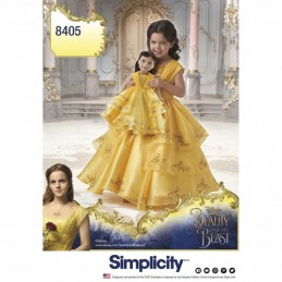 Child's Disney Belle Beauty and the Beast Costume Simplicity Sewing Pattern 8405