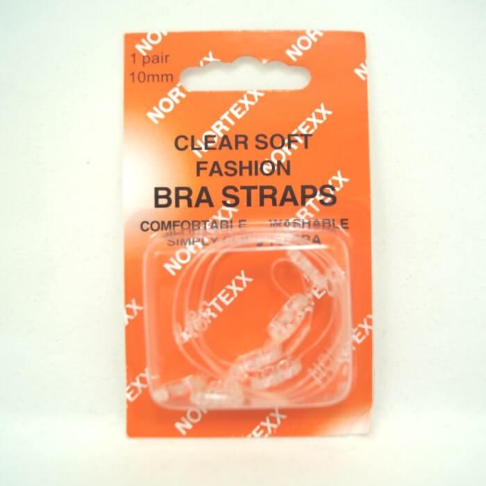Nortexx Clear Soft Fashion Bra Straps 1 Pair 10mm