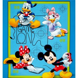 Disney Mickey & Friends Play Time Game Over Panel 100% Cotton Patchwork Fabric