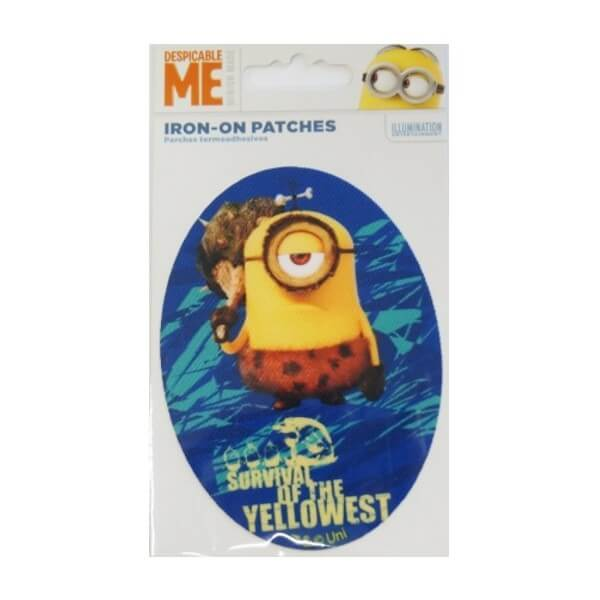 Despicable Me Minion Oval Woven Patches Iron On Sew On Motif Applique