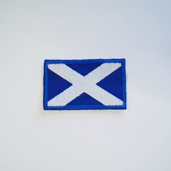 Scottish Flag Embroidered Patch Sew On Motif Applique