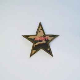 Army Camouflage Military Star Embroidered Patch Iron On Sew On Motif Applique