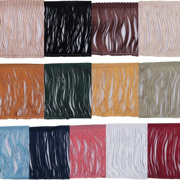 1m Chainette Cut Fringe 12.5cm Upholstery Fringing Multiple Colours