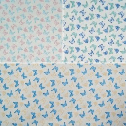 Pastel Fluttering Butterfly Aviary Heaven 100% Cotton Fabric (Fabric Freedom)