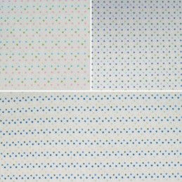 Multi Coloured Small Spotty Dots In Lines 100% Cotton Fabric (Fabric Freedom)
