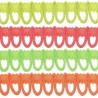 2, 5, 10 or 25 Rouleau Loop Neon Fringe 14mm Upholstery Fringing