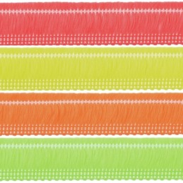 2m, 5m, 10m or 25m Neon Cut Fringe 23mm Upholstery Fringing Multiple Colours