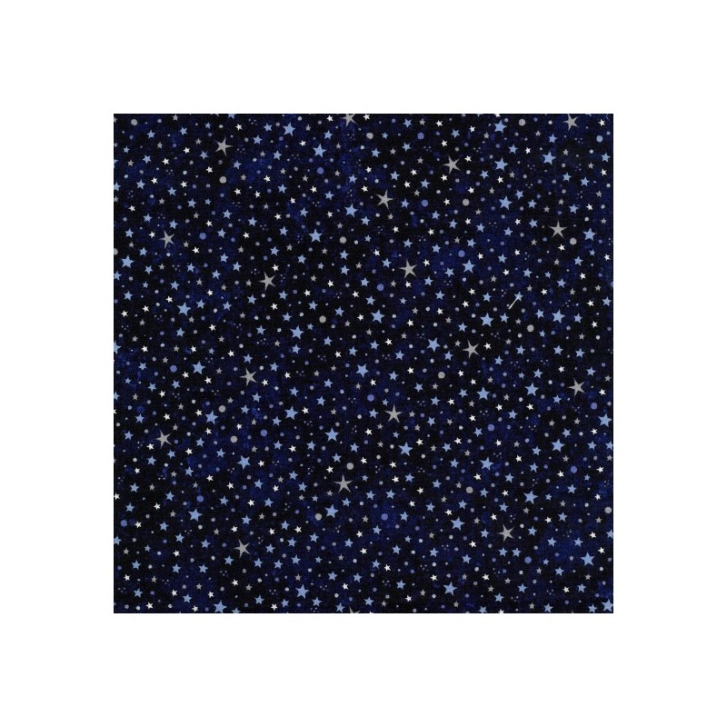 Stars Of The Universe Glittering In The Sky 100% Cotton Patchwork Fabric (Nutex)