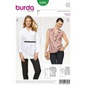 Burda Women's Workwear Smart Casual Blouses Sewing Pattern 6456