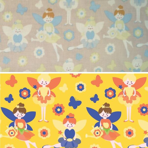 Flower Fairies Looking After The Garden 100% Cotton Patchwork Fabric (FF)