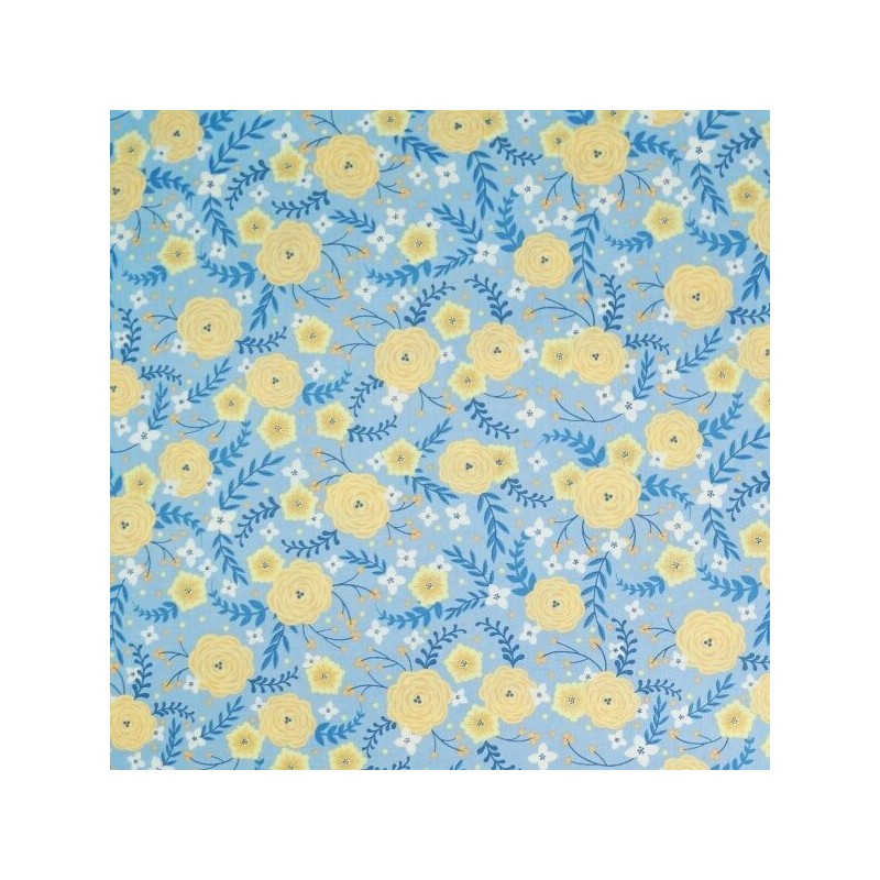 Do What You Love Blooming Flowers Floral 100% Cotton Fabric Patchwork