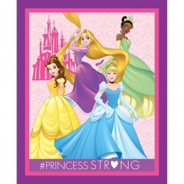 Disney Dream Big Princesses Strong Together Panel 100% Cotton Patchwork Fabric