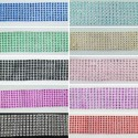 1 Metre 40mm 8 Row Imitation Sparkle Diamante Trim Decoration Craft Accessories