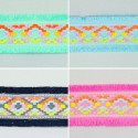 1 Metre 45mm Aztec Style Woven Braid Fringed Ribbon Trim Craft Accessories