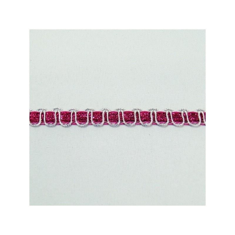 2 Metres 10mm Cerise Glitter Sparkle Ribbon Cord Weave Trim Craft Accessories