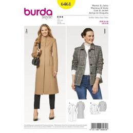 Burda Style Women's Slender Coats Jackets Dress Sewing Pattern 6461