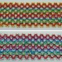 1 Metre 50mm Metallic Multi Colour Weave Flat Braid Trim Craft Accessories
