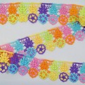 1 Metre 50mm Disco Daisies Bright Flowers & Leaves Ribbon Trim Craft Accessories