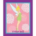 Disney Tinkerbell Floral Panel Peter Pan Fairy 100% Cotton Patchwork Fabric