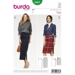 Burda Style Women's High Waisted Skirt Dress Sewing Pattern 6467