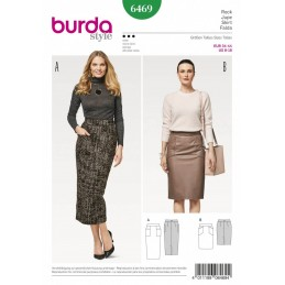 Burda Style Women's Feminine Pencil Skirt Dress Sewing Pattern 6469