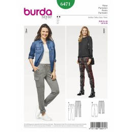 Burda Style Women's Super Comfortable Trousers Dress Sewing Pattern 6471