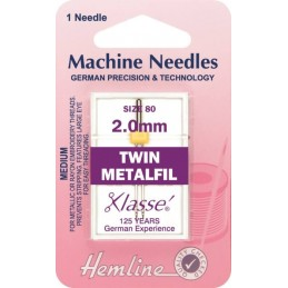 Hemline Twin Metalfil Machine Needles Various Style And Types