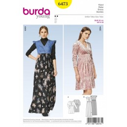 Burda Style Women's Wrap Long & Short Dress Sewing Pattern 6473