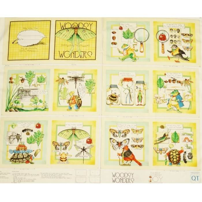 Storybook Woodsy Wonders Panel 100% Cotton Patchwork Fabric (Quilting Treasures)