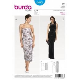 Burda Style Women's Sleeveless Long Evening Dress Sewing Pattern 6483