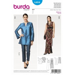 Burda Style Women's Evening Attires Dress, Top & Bottoms Sewing Pattern 6484