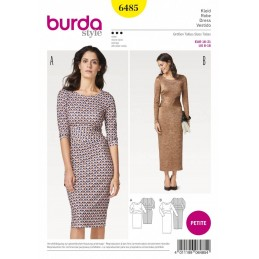 Burda Style Women's Petite Crisscross Waistband Dress Sewing Pattern 6485