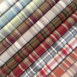 Tartan Plaid Wool Look Upholstery Curtain Polyester Fabric