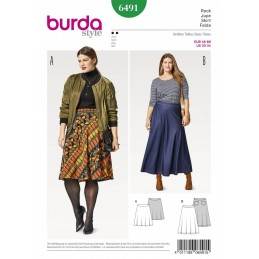 Burda Style Women's Plus Size Midi & Maxi Skirt Sewing Pattern 6491