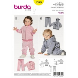 Burda Kids Babies Tracksuit Joggers Jogging Suit Sewing Pattern 9349