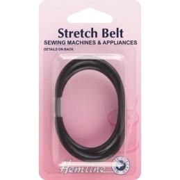 Hemline Black Rubber Stretch Sewing Machine Belt