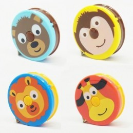 "Jungle Zoo Animals Retractable 150cm/60"" Length Tape Measure Craft"