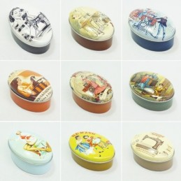 Sew Tasty Vintage Dressmaker Small Oval Sewing Tins Accessories Storage Craft
