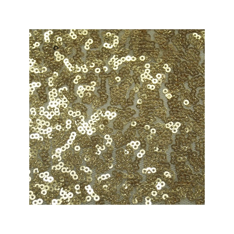 Gold All Over 3mm Sequins Fabric